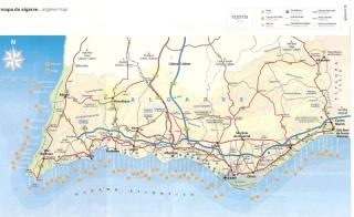 Mapa do Algarve. Clique para ampliar.