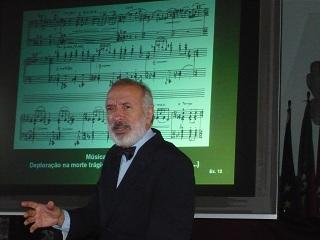 Conferência no Museu da Música Portuguesa. Cascais. Foto: Maria Manuela Pedrosa Cardoso. 26/05/10. Clique para ampliar.