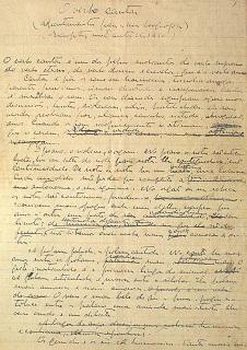 Página manuscrita de Guerra Junqueiro. Extraído de A Música de Junqueiro, pág. 34. Clique para ampliar.