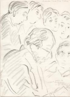 J.E.M. e alunos - Gent, Bélgica. Crayon, Yves Dendal, 2000