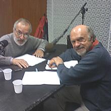 Júlio Medaglia (direita) e J.E.M.